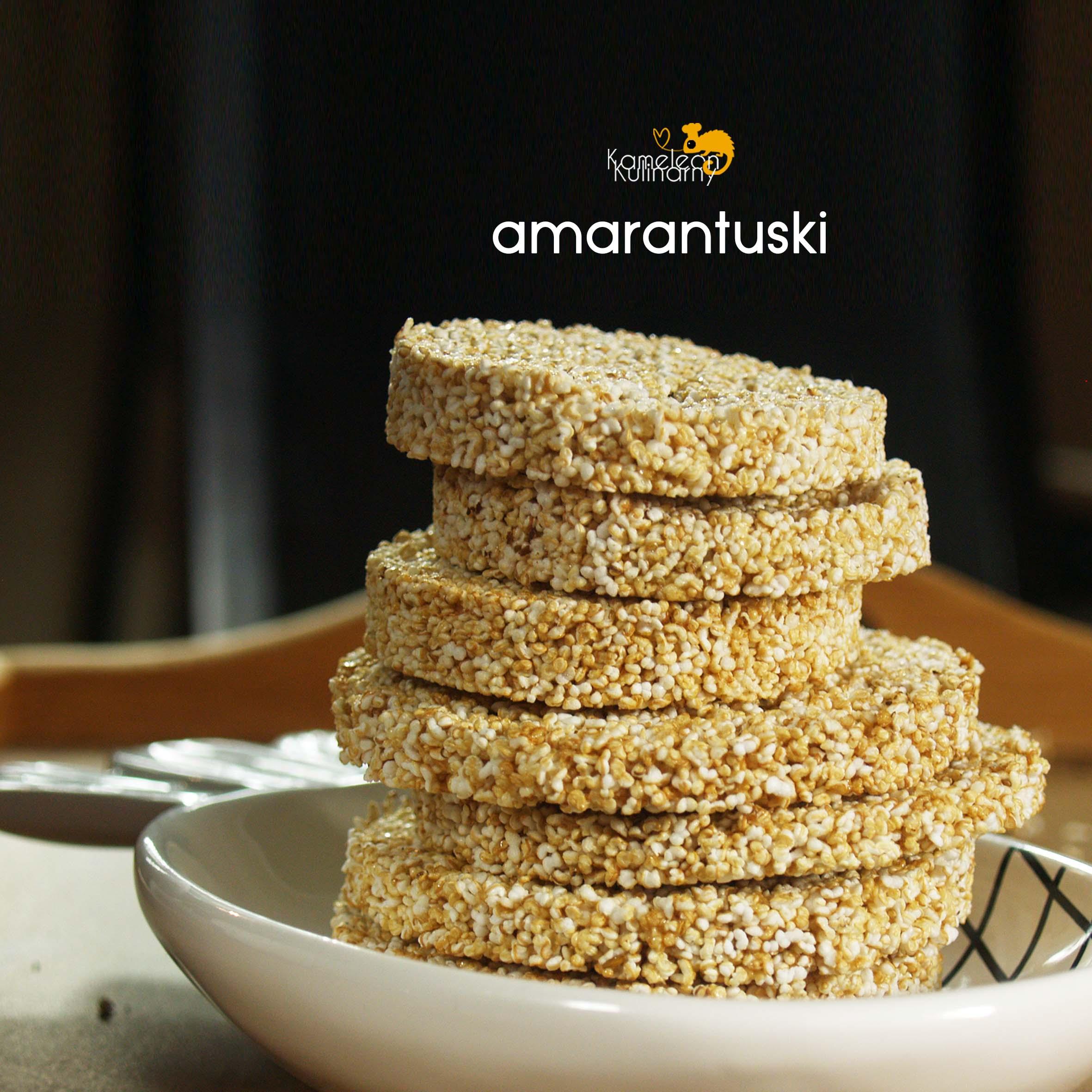 AMARANTUSKI – dwuskładnikowe ciasteczka
