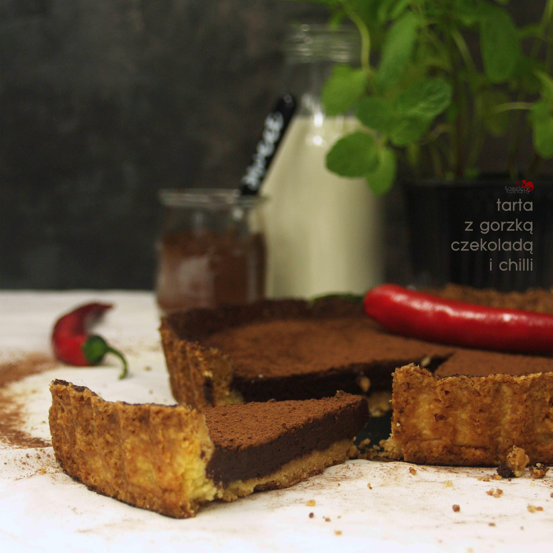 TARTA Z GORZKĄ CZEKOLADĄ / wersja z chilli