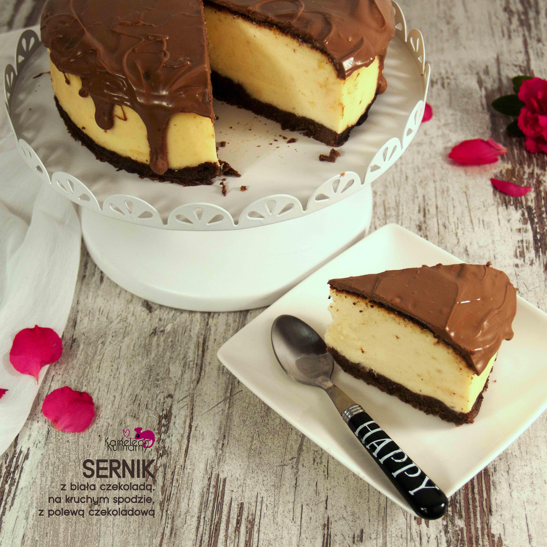 SERNIK z białą czekoladą, na kruchym spodzie